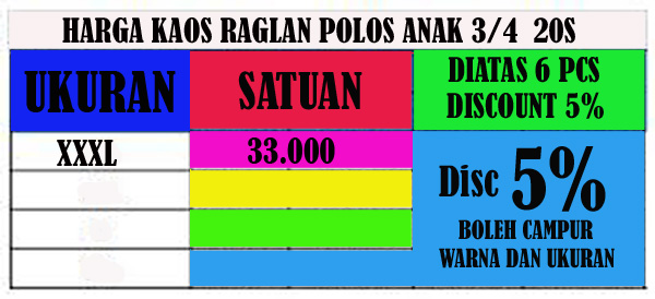 price list anak xxxxxxl